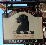 Black Talbot dog