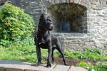Cane Corso near the old building