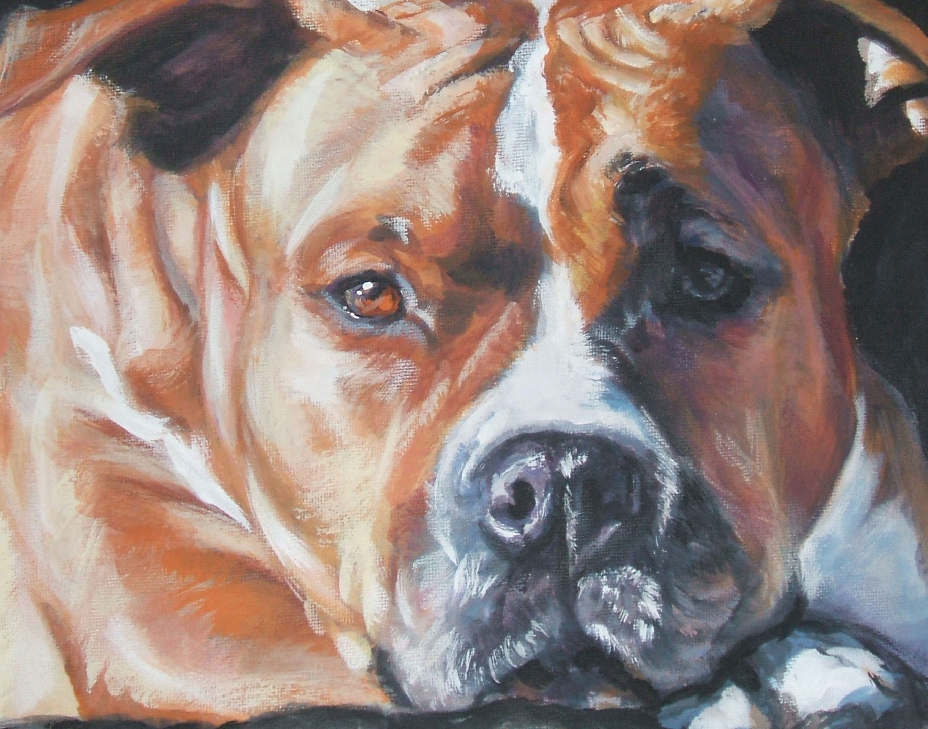 Drawn American Staffordshire Terrier wallpaper