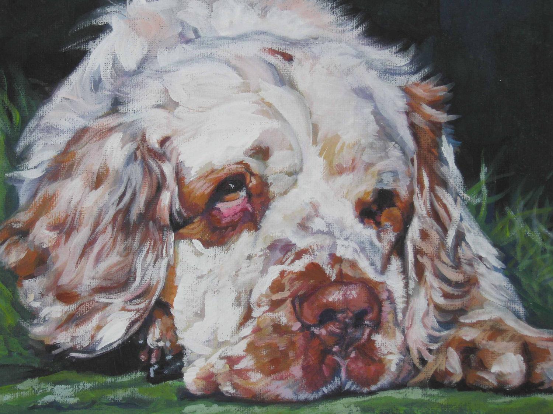 Drawn Clumber Spaniel dog  wallpaper