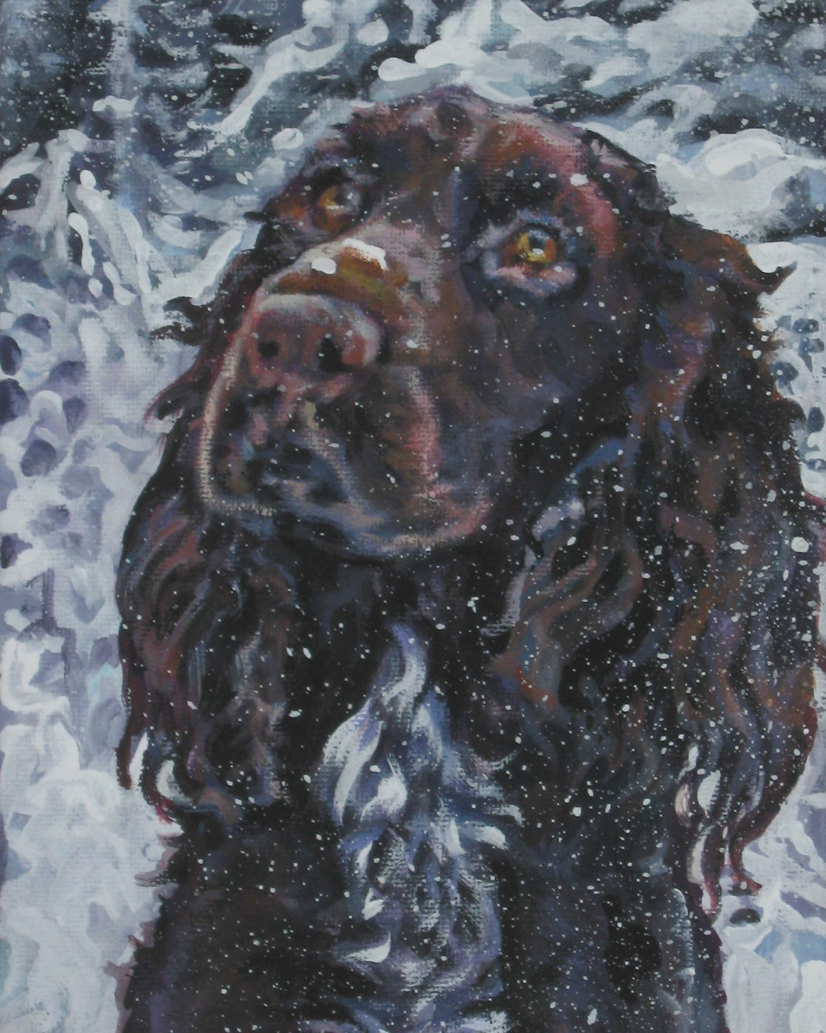 Drawn Field Spaniel wallpaper