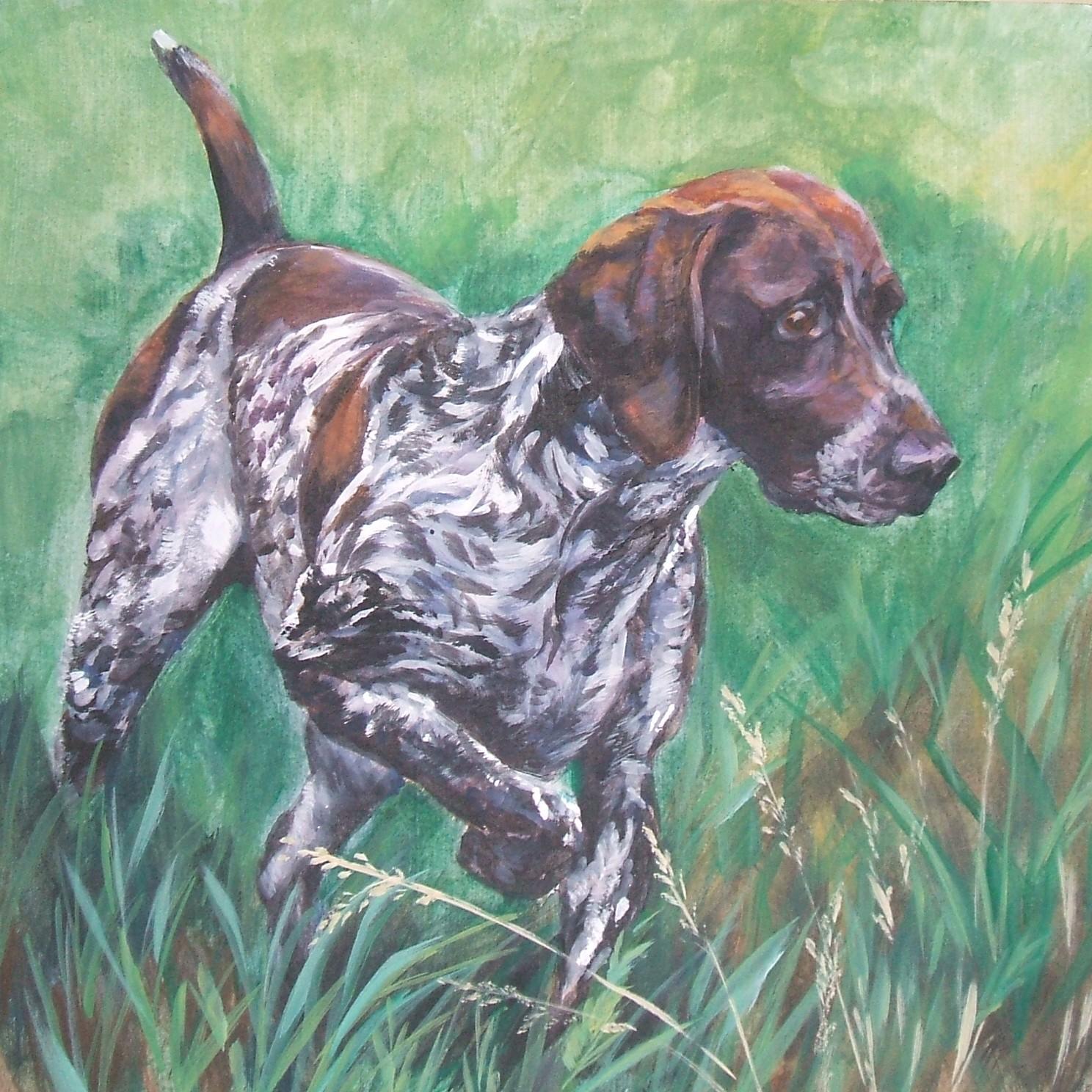 Нарисованная собака курцхаар фото