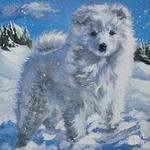Drawn Japanese Spitz
