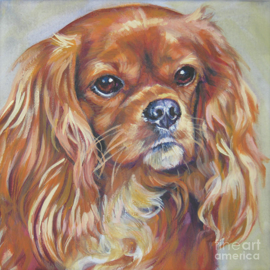 Drawn King Charles Spaniel wallpaper