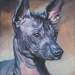 Drawn Mexican Hairless Dog
