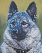 Drawn Norwegian Elkhound