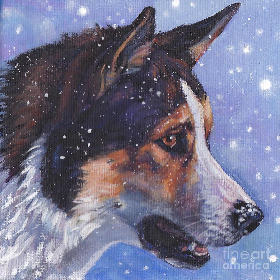 East Siberian Laika dog drawing wallpaper