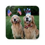 Happy Flag Day Golden Retriever dogs