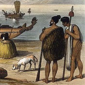 Kuri и два предводителя племени Маори фото